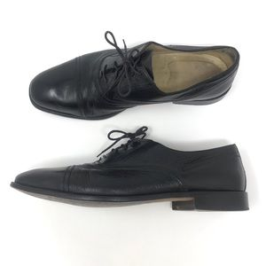 Johnston & Murphy Cellini Black Cap Toe Oxfords